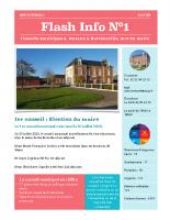 Flash Info N°1 (Septembre 2020)