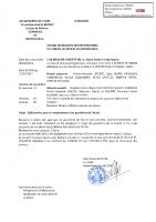 Délibération 4 -2021 pour le remplacement des gouttières Ecole
